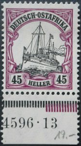 German East Africa 1905 Forty Five Heller with HAN no Michel 36 mint