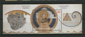 MACEDONIA-MNH** BLOCK-ICONS-FACULTAS IURIDICA-2011.