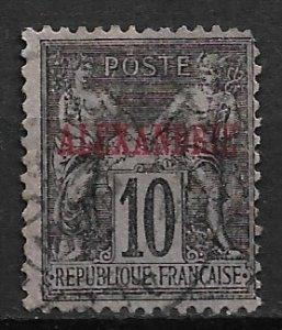 1899 France Office in Egypt 6 Peace and Commerce 10c used.