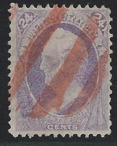 Scott 153, Used, 1870-1 National Banknote Issue Without G...