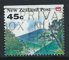 New Zealand SG 1694 FU  imperg top margin  ex booklet
