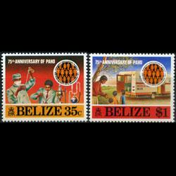 BELIZE 1977 - Scott# 393-4 Health Org.75th. Set of 2 NH