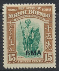 North Borneo  SG 328 SC# 216 MLH    Opt BMA  See scans / details