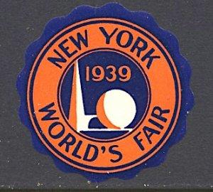 USA New York World's Fair 1939/40 Trylon & Perisohere Round