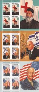 Montserrat 1998 Famous People-Mao & Ike-9 Sheet Set 13B-008