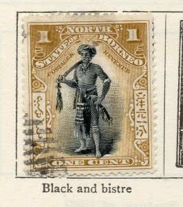 North Borneo 1897-1900 Early Issue Fine Used 1c. NW-113866