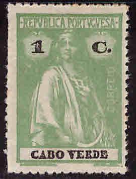 Cape Verde Scott 165 MH* Ceres stamp