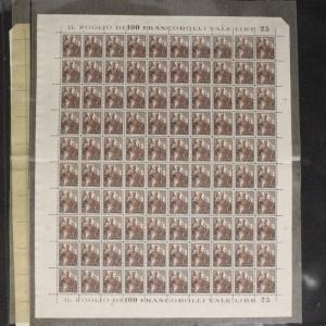 Vatican City Stamps Sheets 1938 Airmails C1, C7, C8 with duplicates CV $1780++