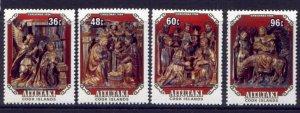 Aitutaki 356-9 MNH Christmas, Art