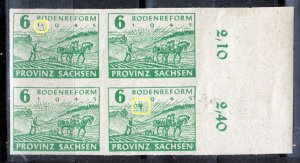 Germany Provinz Sachsen 85 Plate Flaw mnh