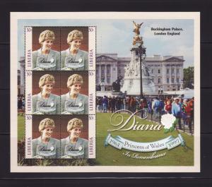 Liberia 1364 Complete Sheet of 3 Set MNH Princess Diana