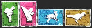 Solomon Islands. 1974. 259-62. 100 years of the UPU, cards. MNH.