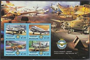 NEW ZEALAND 1992 RNZAF Museum Cinderella mini sheet MNH....................29030