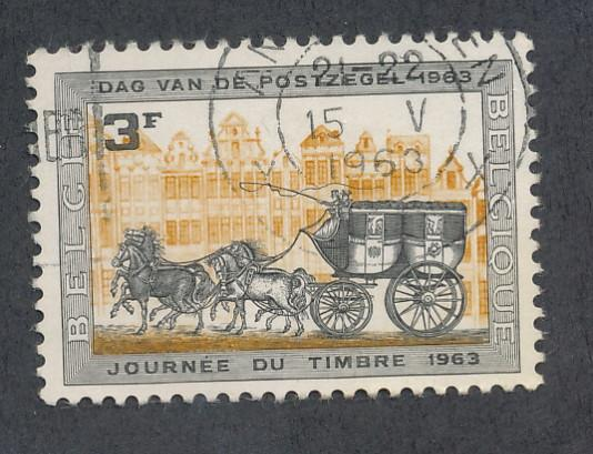 Belgium 1963 Scott 591 used - 3fr, Stamp Day