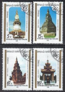 LAOS STAMPS SC# 955-58  *CTO* 1989  5+15+61+161k  HISTORIC MONUMENT  SEE SCAN