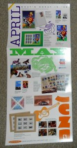 1998 stamp poster USPS 11 X 17 April May June issues