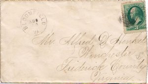 United States Virginia Bloomfield c1875 target  1817-1907  3c Washington Bank...