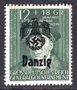 POLAND NB36 GERMANY OCCUPATION DANZIG OVERPRINT OG NH U/M F/VF