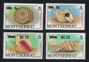 Montserrat Shells 4v Ovpts 1991 MNH SG#843-846