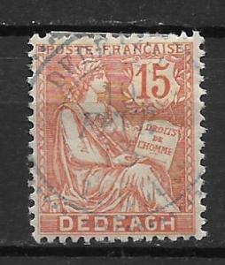 French Offices in Turkey - Dedeagh 11a 15c single Used
