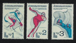 Czechoslovakia Winter Olympic Games Lake Placid 3v SG#2503-2505