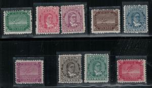 Cook lslands 1902 SC 30-38 Mint SCV $219.25 Set