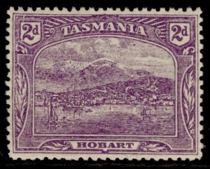 AUSTRALIA - Tasmania EDVII SG251f, 2d bright reddish violet, LH MINT. Cat £14.