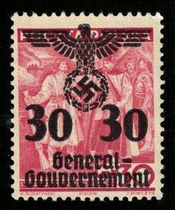 1940, Polish Postage Stamps Overprinted, 30Gr/30Pf, MNH, YT #39 (T-8156)