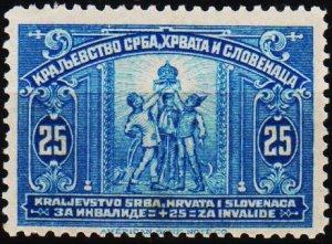 Yugoslavia. 1921 25+25p S.G.180 Unmounted Mint