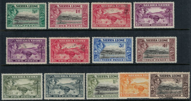 Sierra Leone #173-82*/u  CV $16.75