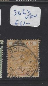 MALAYA PERAK (P1409B)  2C    TIGER SG  8563 SON CDS      VFU