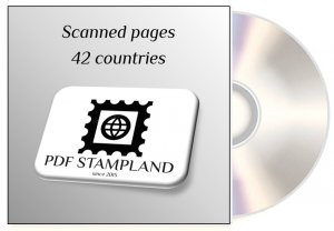 CD Stamp color pages, 42 countries