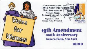 20-148, 2020, SC 5523, Women Vote, Pictorial Postmark, Event Cover, Seneca Falls