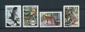 [104387] Costa Rica 1980 Wild life animals bird parrot puma monkey  MNH