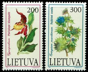 Lithuania #425-426  MNH - Flowers Orchid (1992)