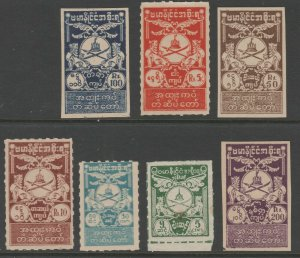 Burma Revenue fiscal stamp 12-27-20 Japan Japanese Occupation