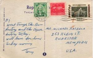 Cuba 1c Marti, 1c Communications Building Postal Tax and 2c 'The Blind' by Ve...