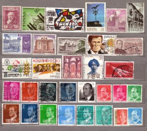 ESPANA SPAIN Different Used Stamps Lot #211