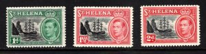 ST. HELENA  SC# 136-138  FVF/MNH