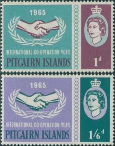 Pitcairn Islands 1965 SG51-52 ICY emblem set MLH
