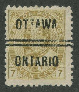 CANADA PRECANCEL OTTAWA 1-92