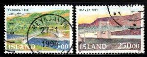 Iceland # 754-55 ~ Cplt Set of 2 ~ Used, HMR ~ Bridges