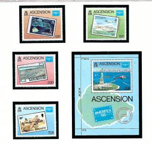 Ascension 394-98 MNH 1986 Ameripex