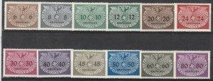Stamp Germany Poland General Gov't Official Mi 01-15 Sc NO1-15 WWII War MNG