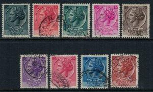Italy #626-33  CV $10.00