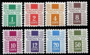 HERRICKSTAMP SINGAPORE Sc.# J1-8 Postage Dues Stamps