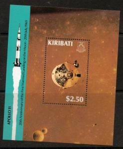 KIRIBATI SGMS309 1989 MAN LANDING ON THE MOON MNH