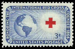 PCBstamps   US #1016 3c Red Cross, MNH, (PCB-23)