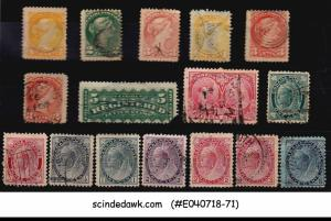 CANADA - SELECTED STAMPS OF QV - 16V - USED