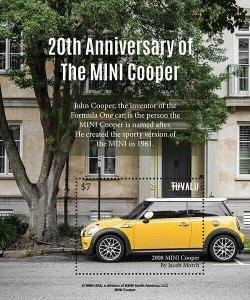 2020/12- TUVALU - MINI COOPER    1V  complet set    MNH ** T
